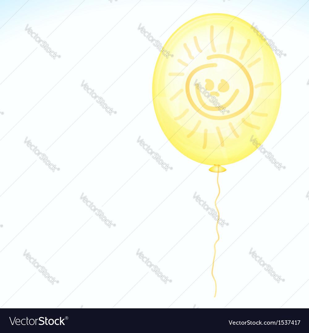 Yellow smile balloon vector