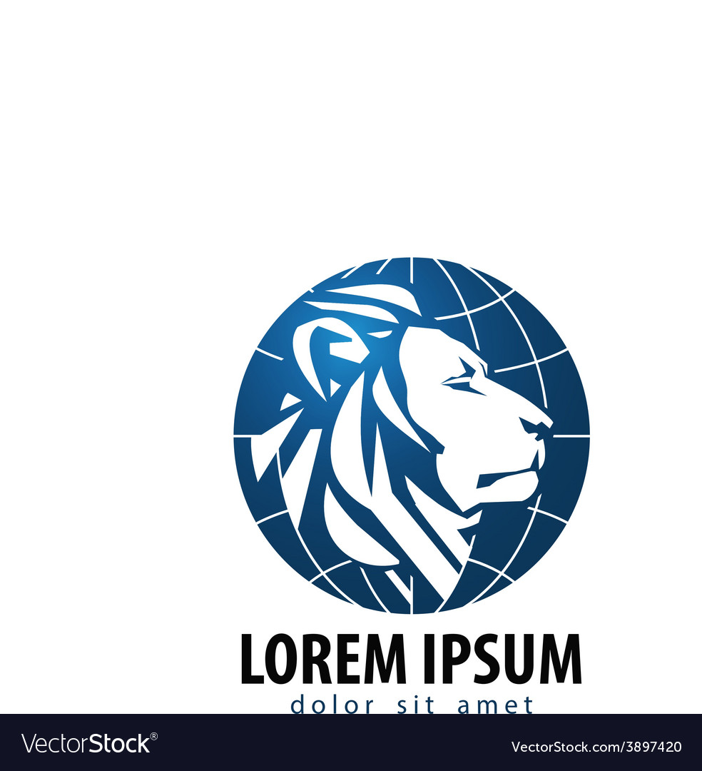 Lion logo design template leo or animals vector