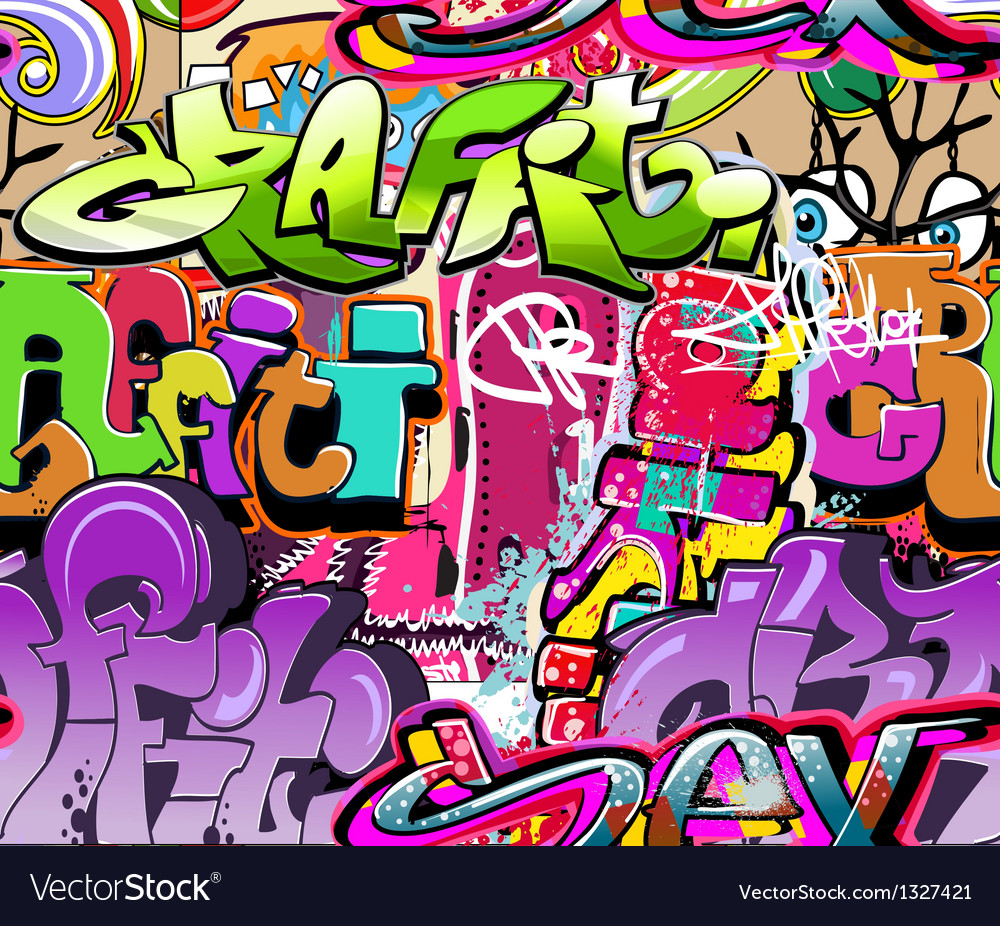 Graffiti wall vector
