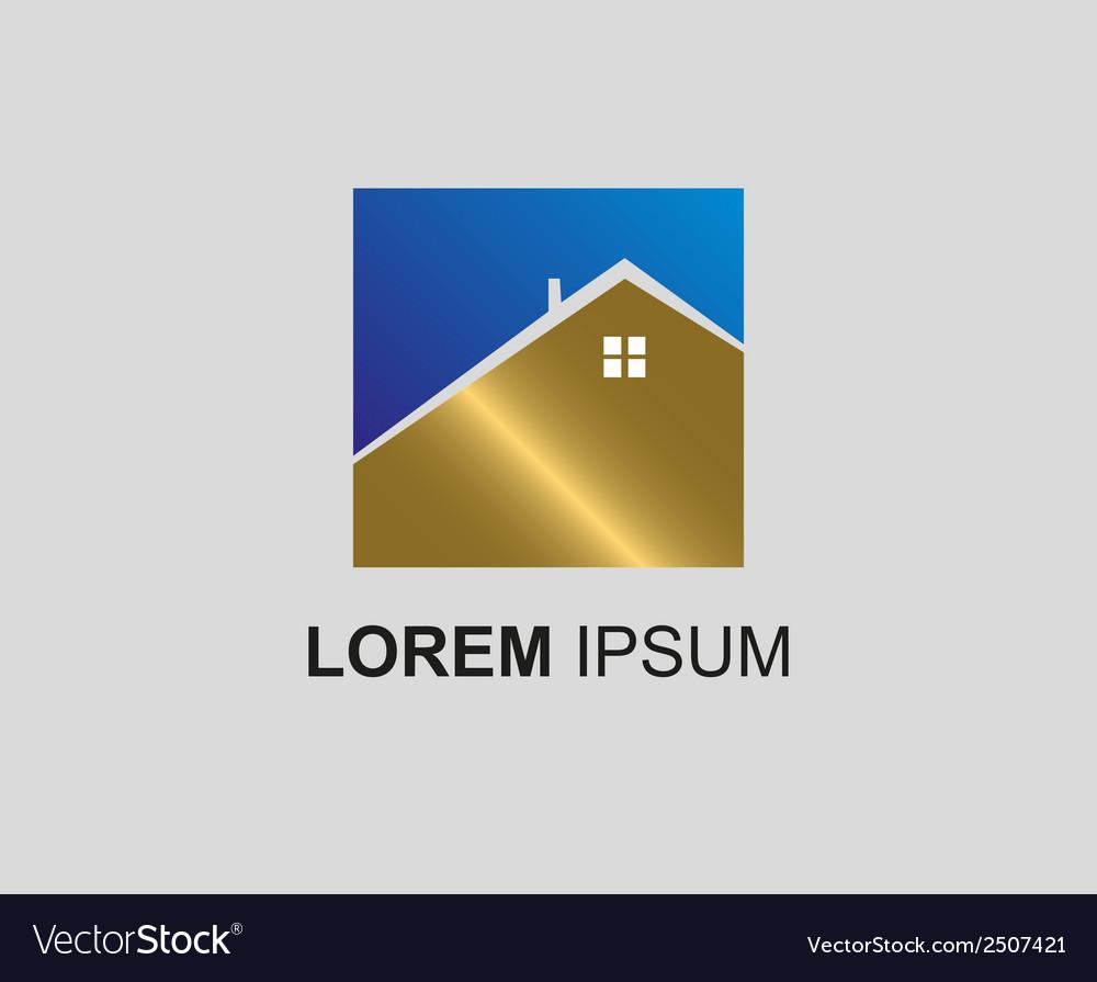 Real estate logo icon vector