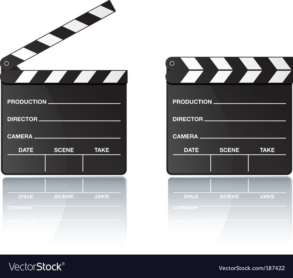 Digital movie clapper board vector