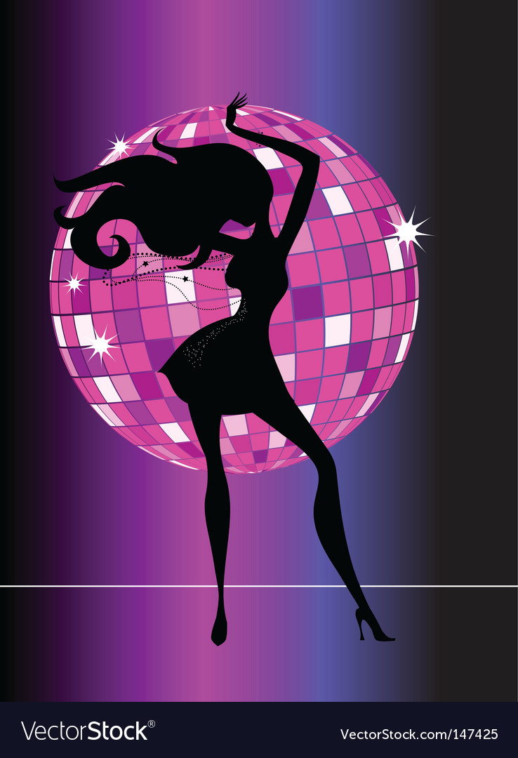 Sexy female dancer vector