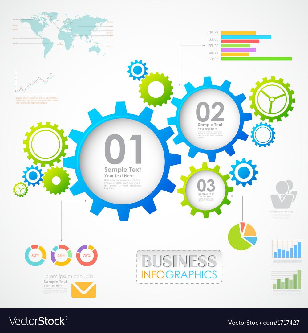 Industrial infographics chart vector