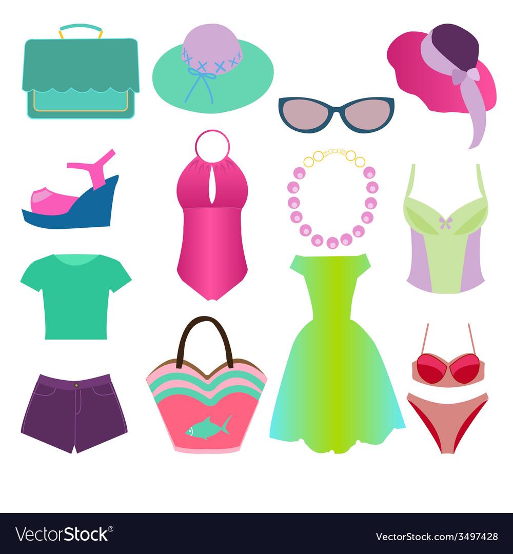 Summer fashion 2 38 vector