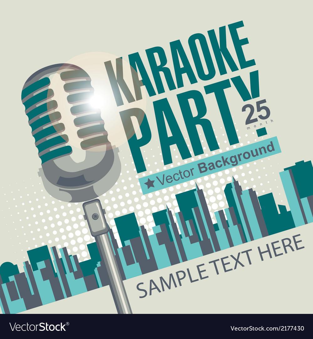 Karaoke parties vector