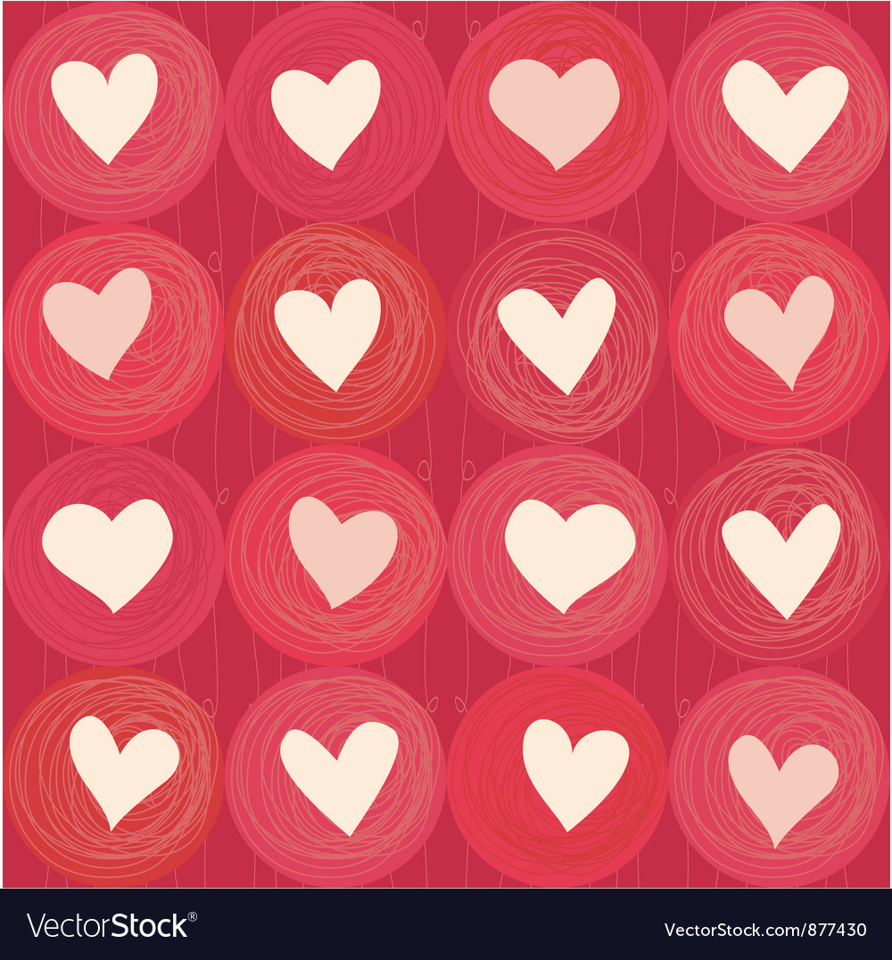 Love heart pattern vector