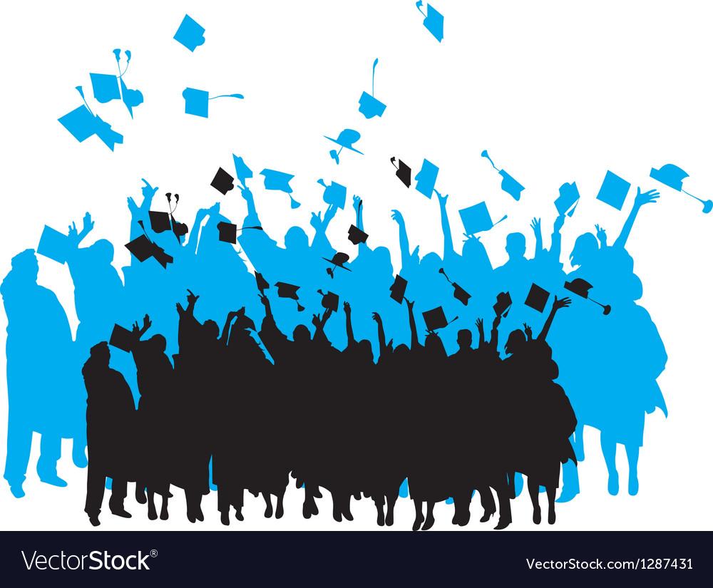 Graduation silhouette vector