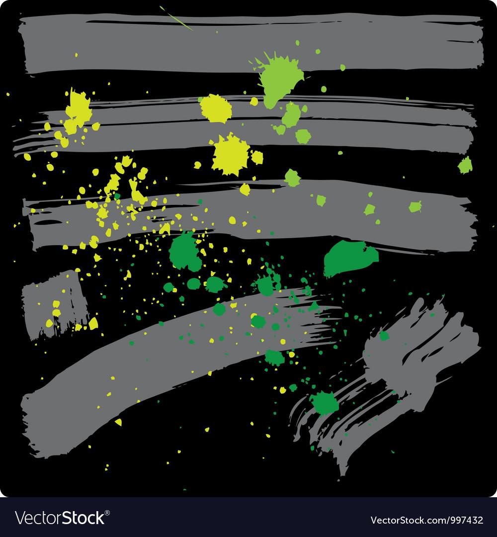 Grunge brushes vector