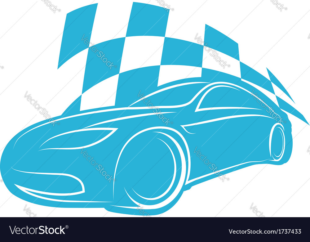 Silhouette sports car vector
