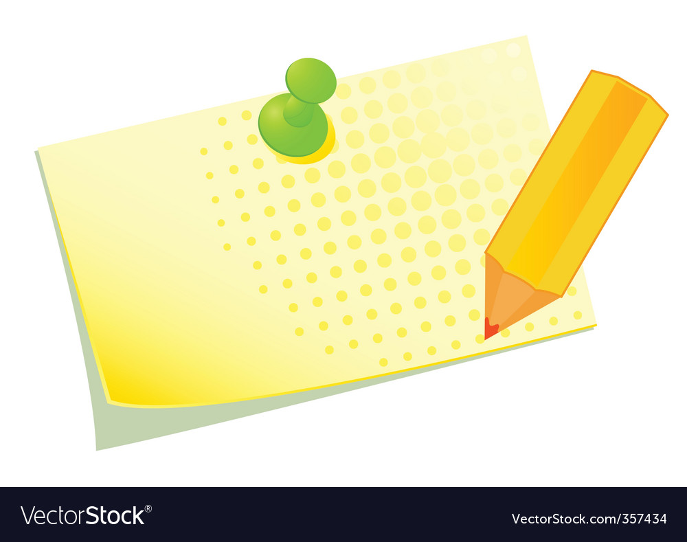 Pinned note vector