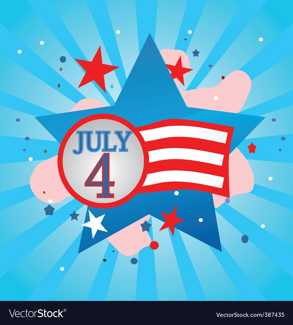 July 4 celebration vector