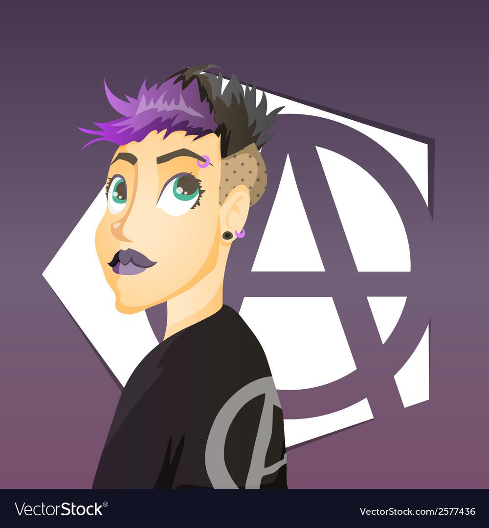 Punk girl vector