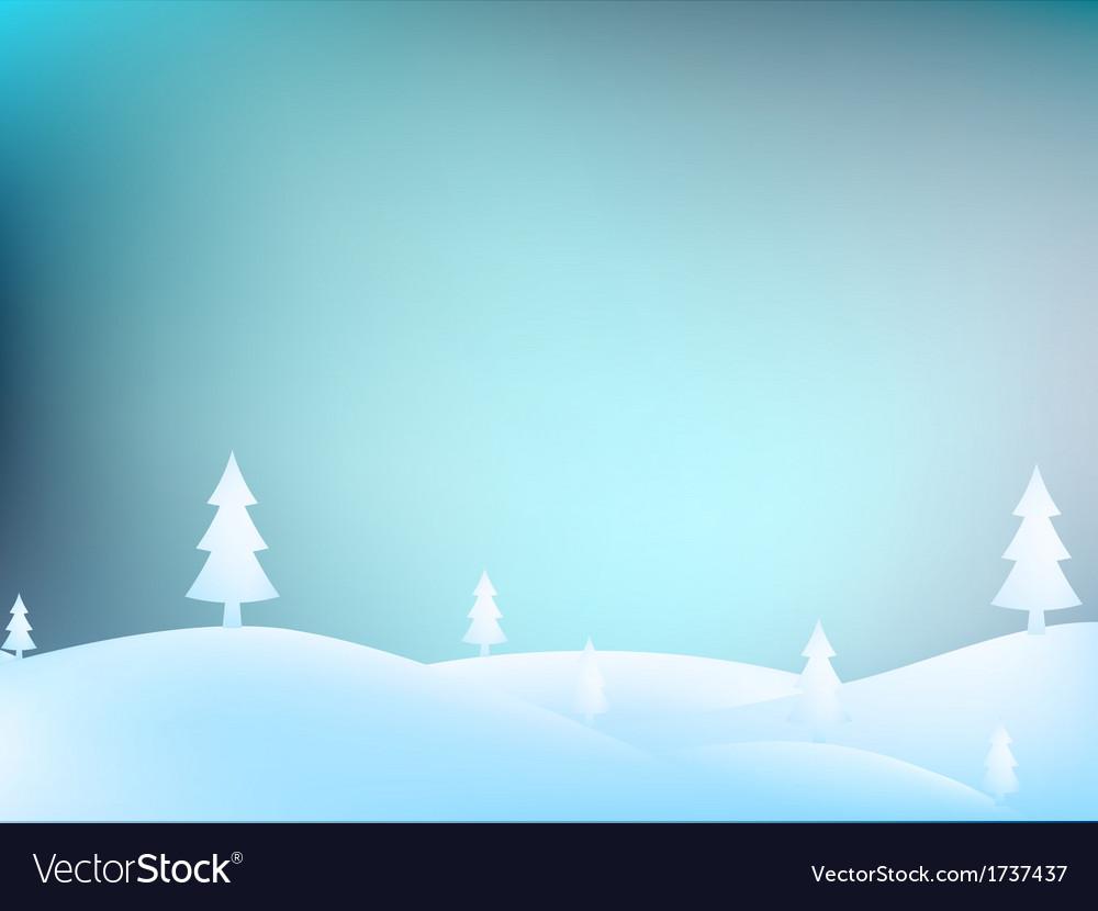 Merry christmas landscape  eps10 vector