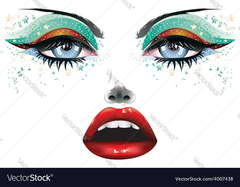 Carnival makeup2 vector