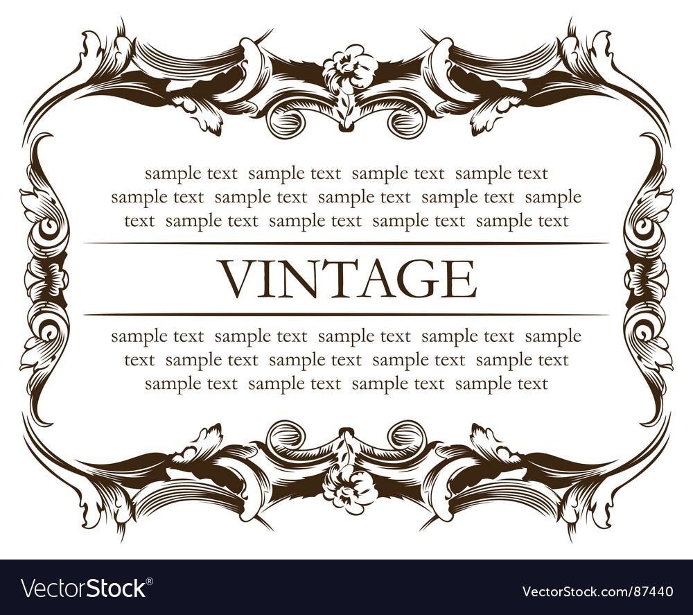 Frame vintage vector