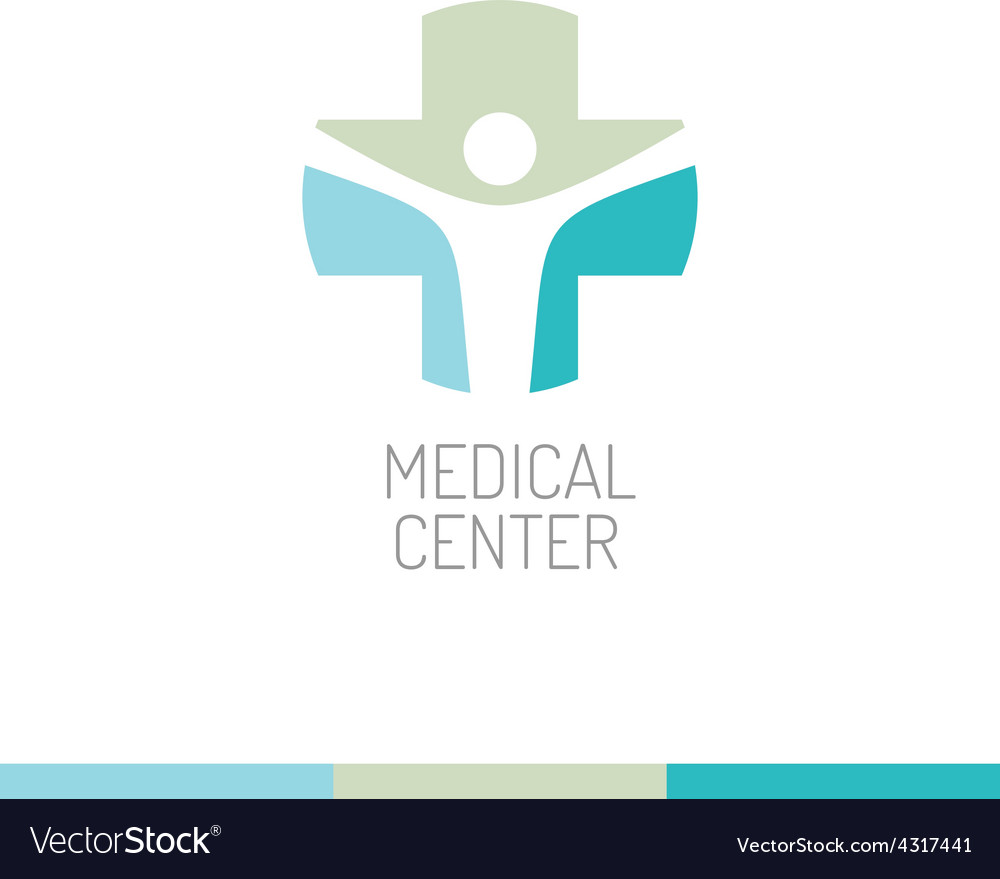 Medical center logo template vector