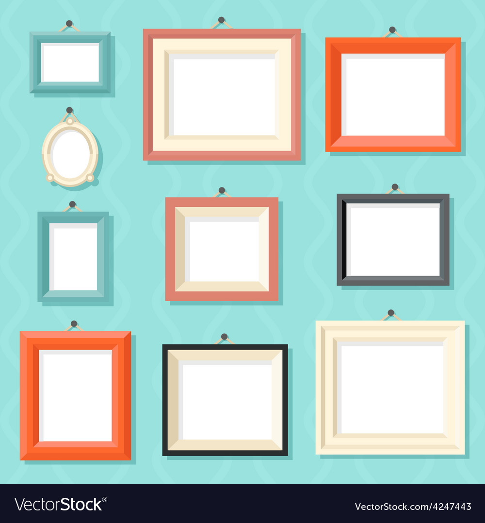 Vintage cartoon photo picture painting drawing vector