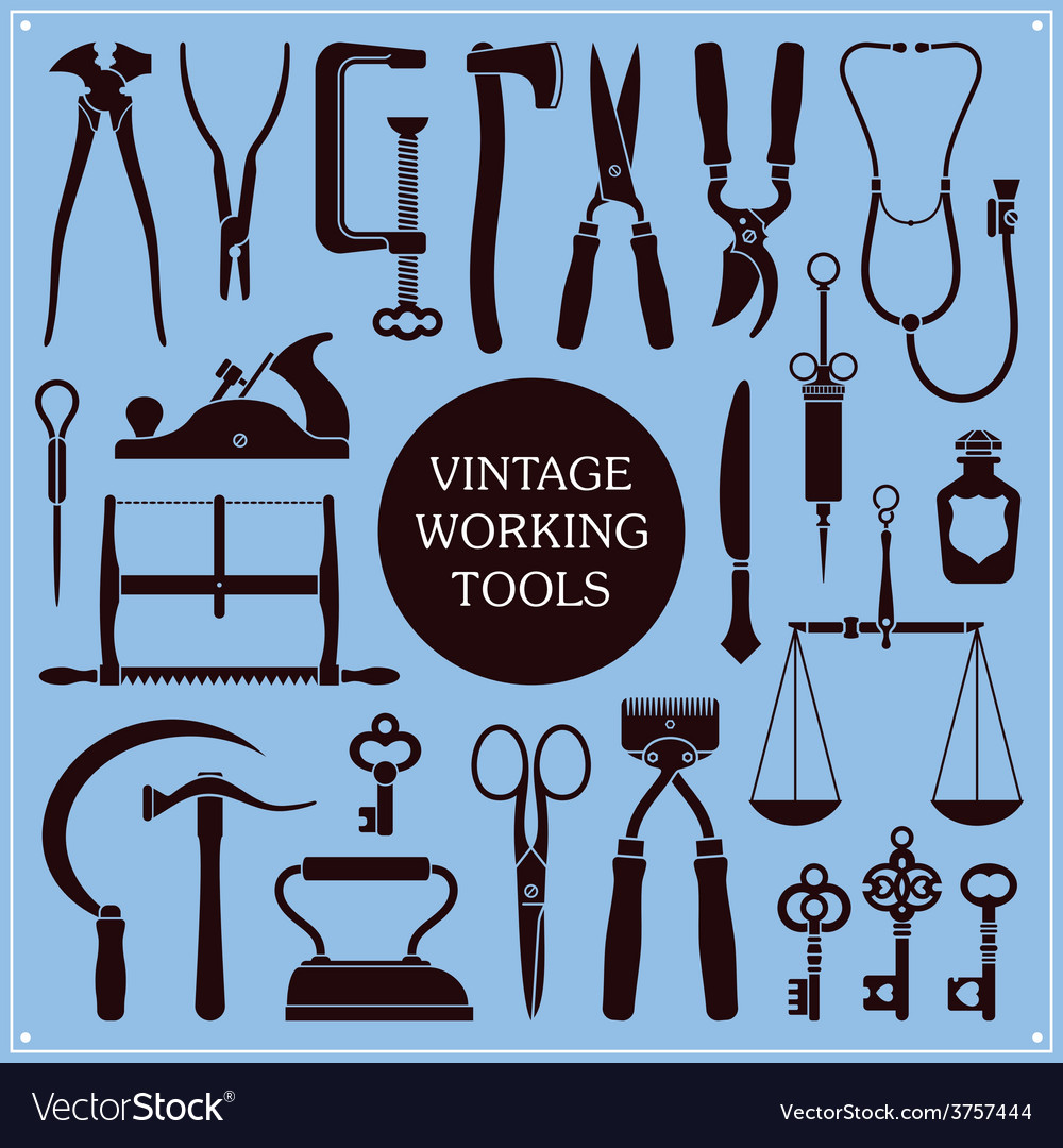 Vintage tools and instruments vector