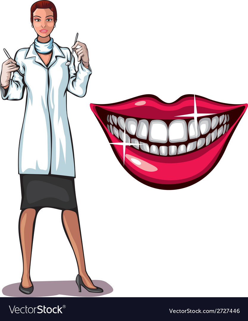 Dantist and smile vector