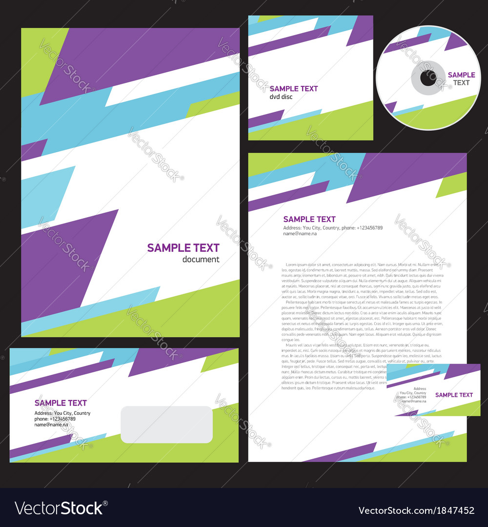 Abstract creative corporate identity triagle vector