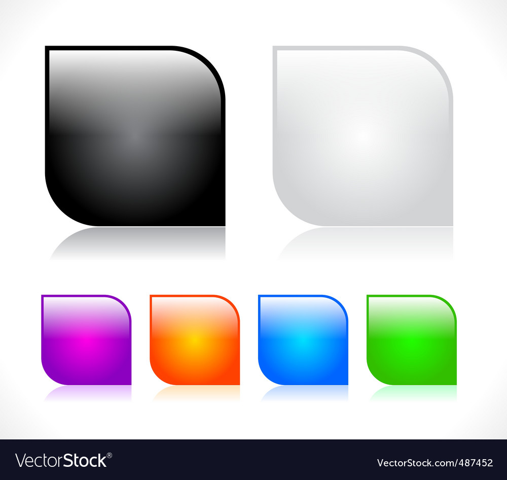 Buttons for web design vector
