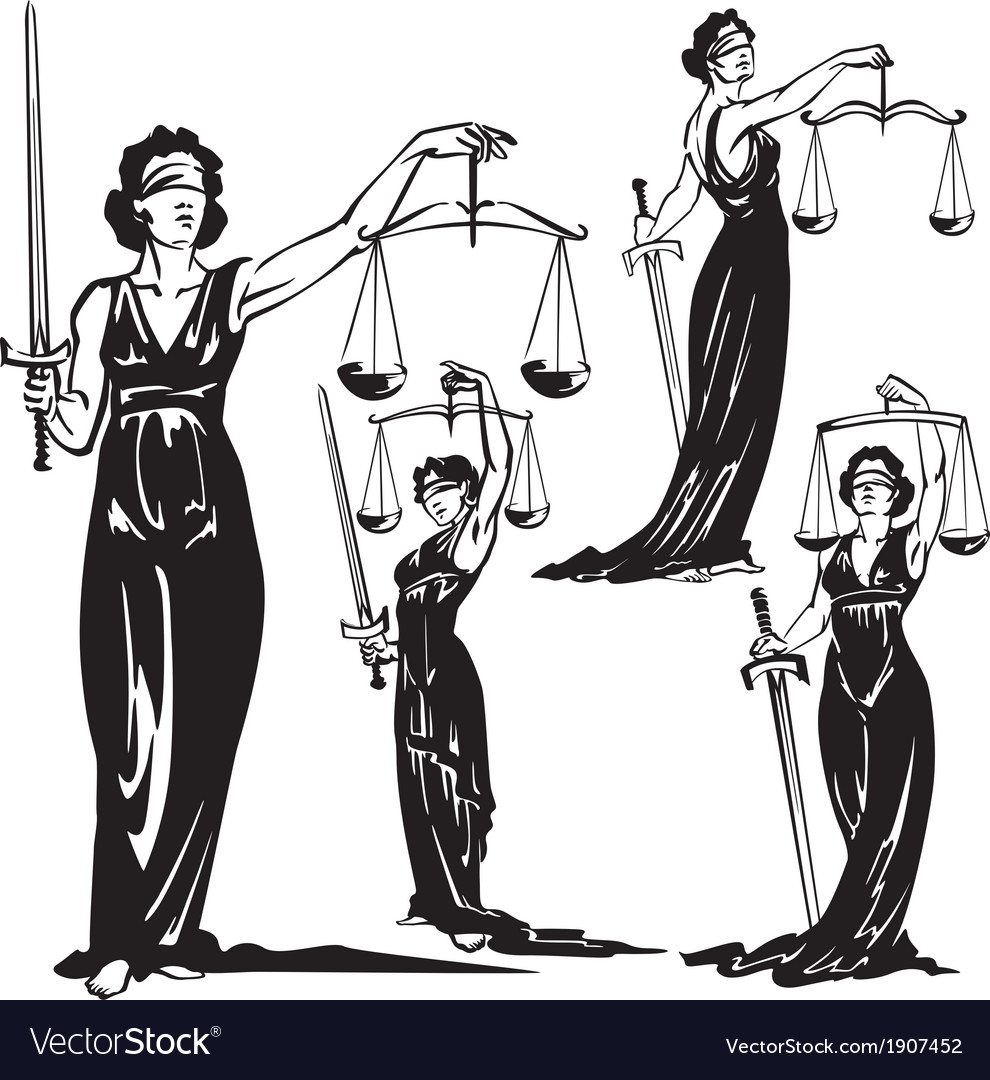 Lady justice vector