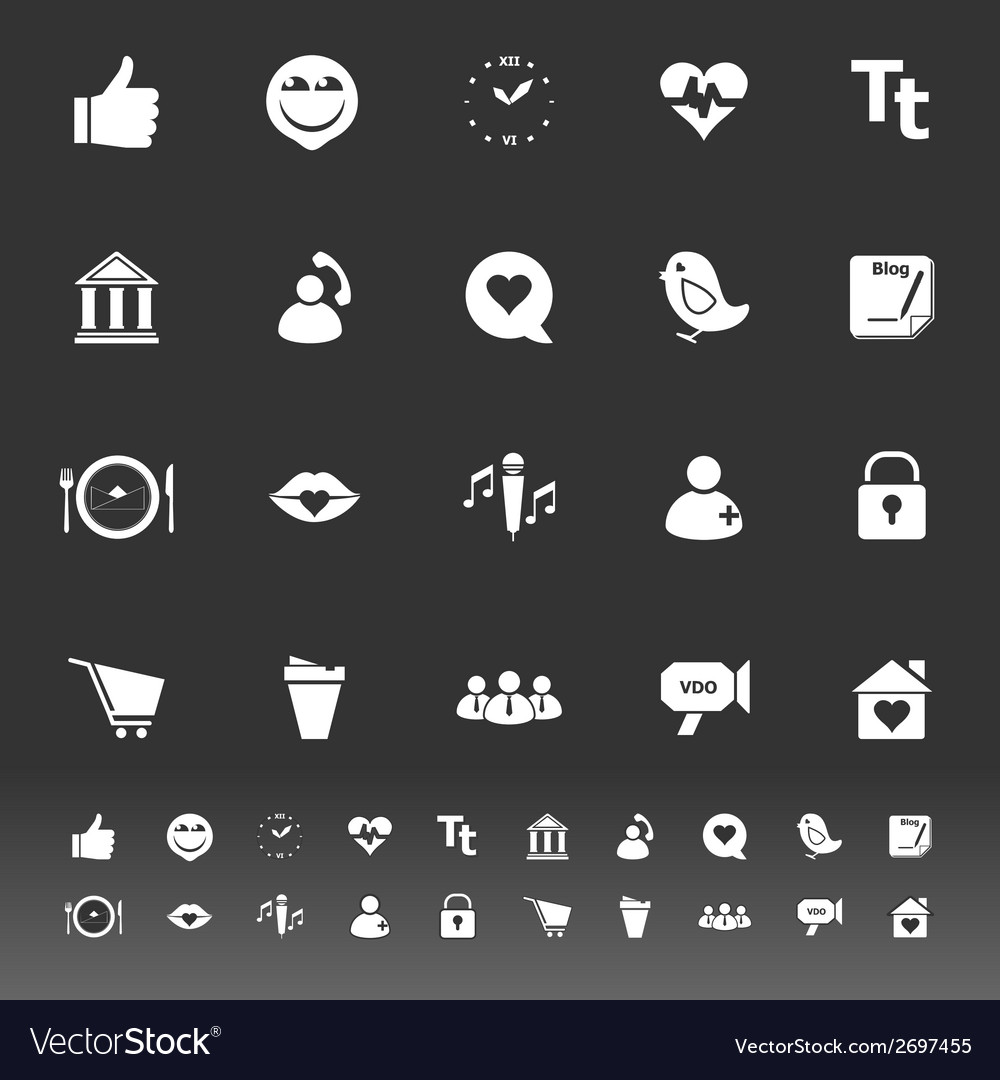 Chat conversation icons on gray background vector