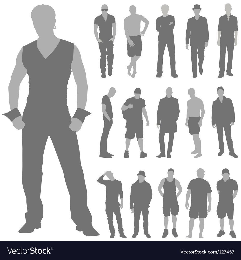 Fashion man set vector