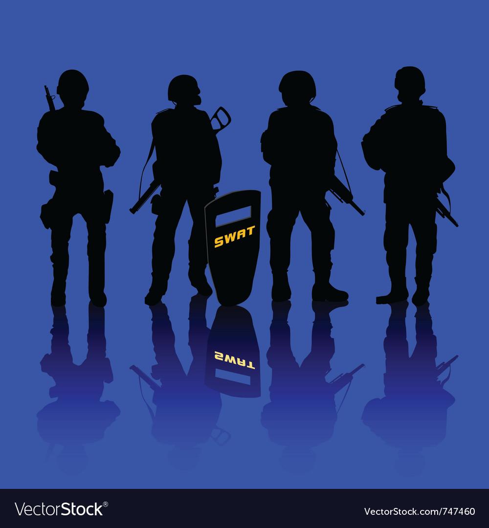 Anti terror police force vector