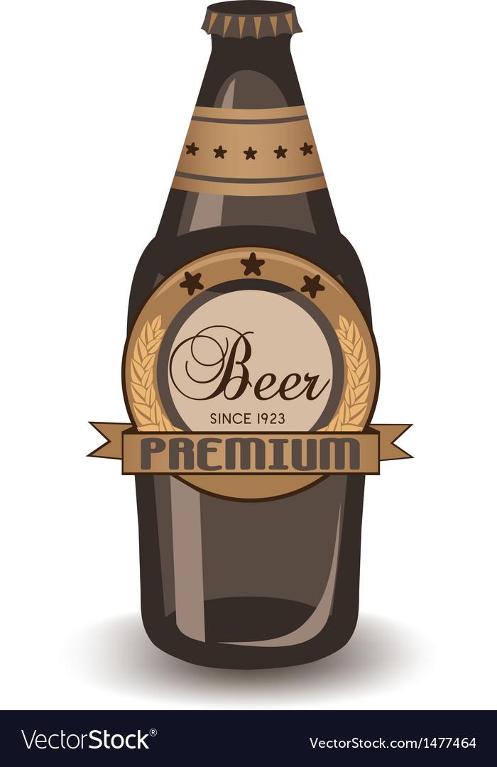 Premium beer vector