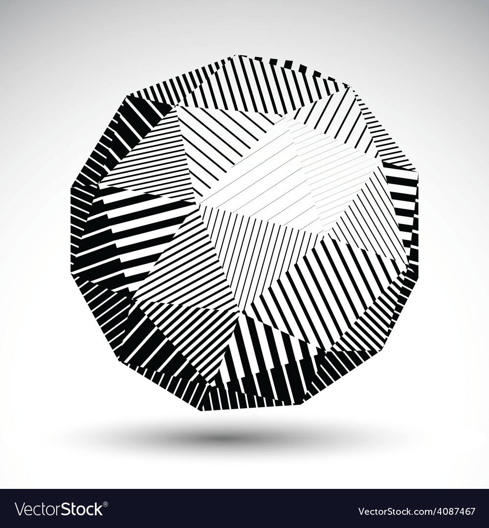 Abstract 3d rounded contrast figure constructed vector