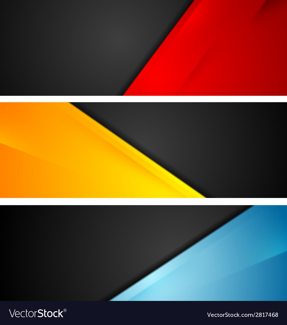 Shiny tech corporate banners vector