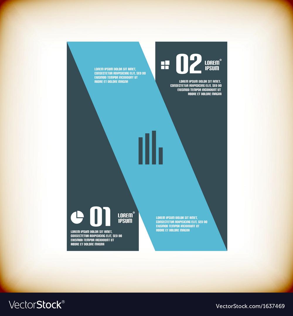 Modern ribbon business banner template vector