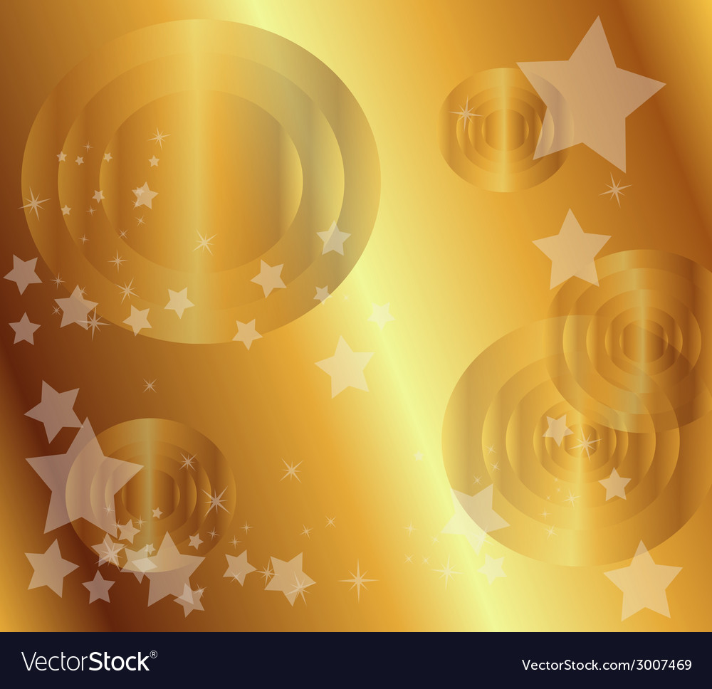 Star and circle light golden background vector