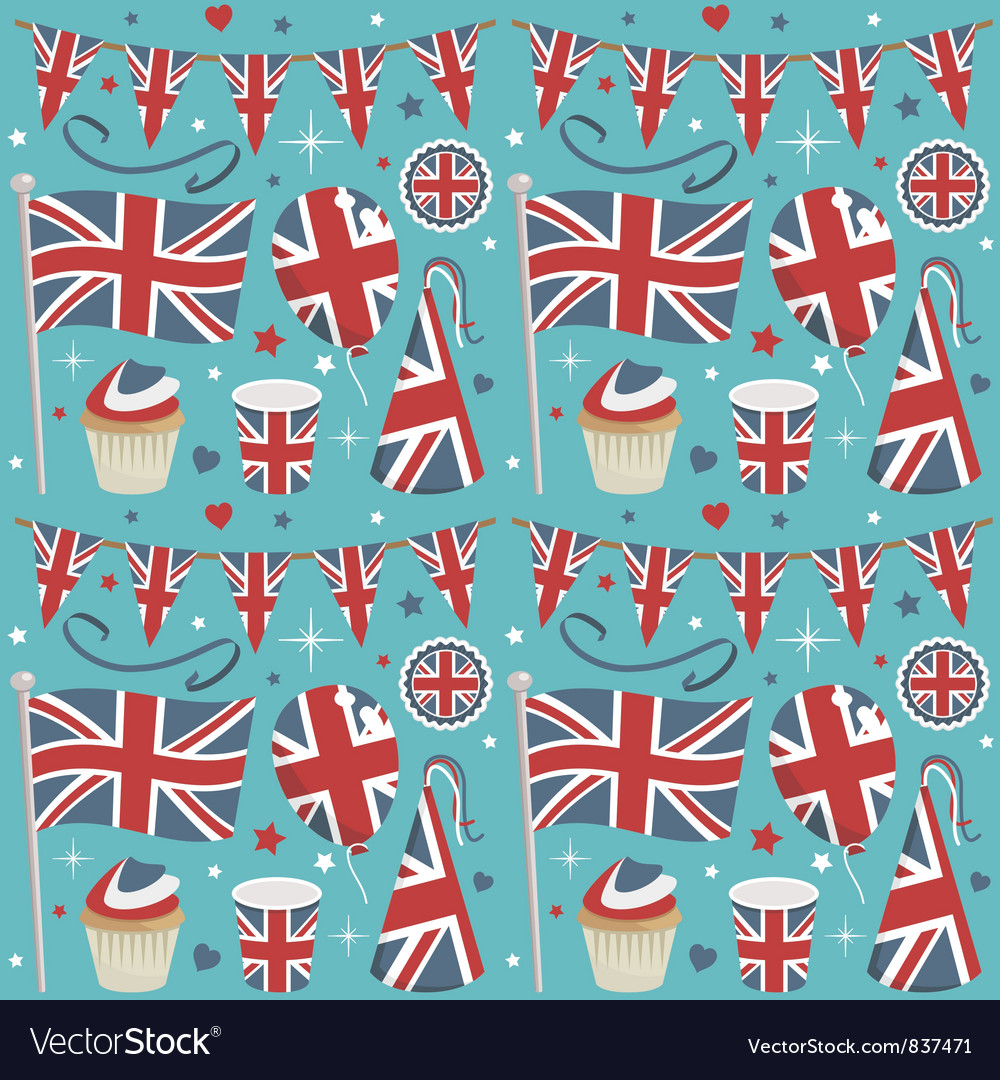 Uk party pattern vector