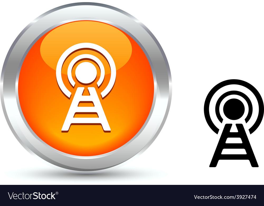 Communication button vector