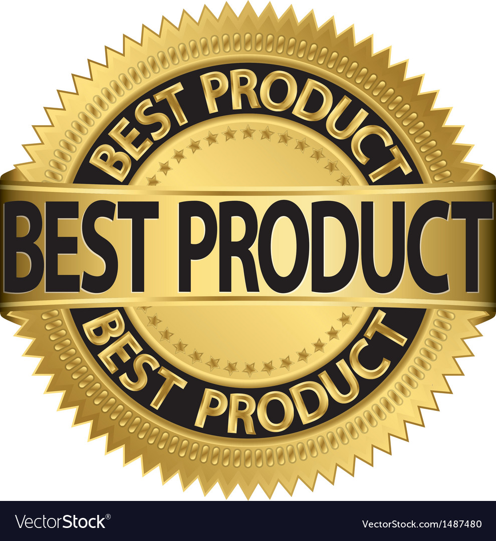 Best product gold label vector