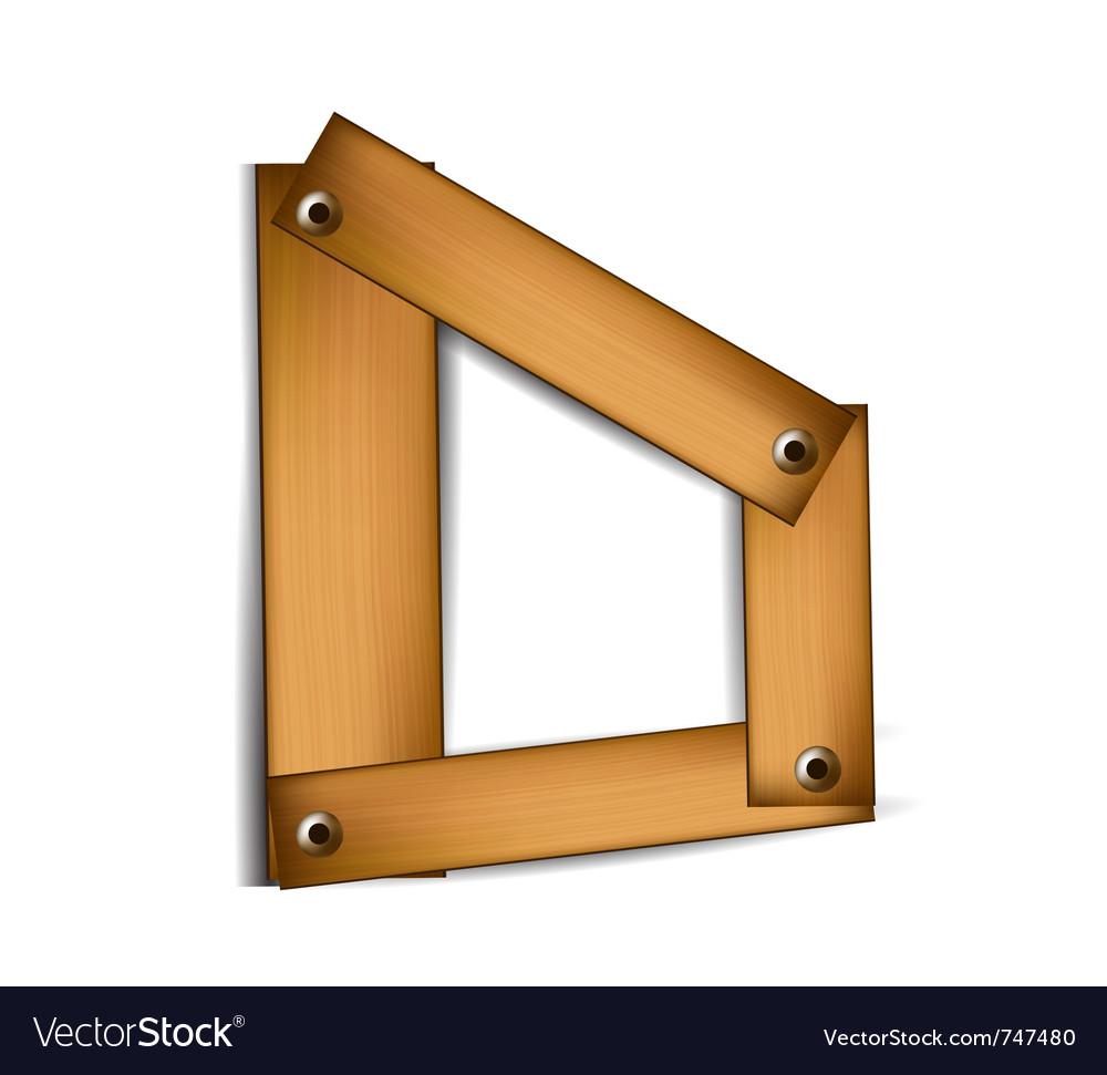 Wooden type d vector