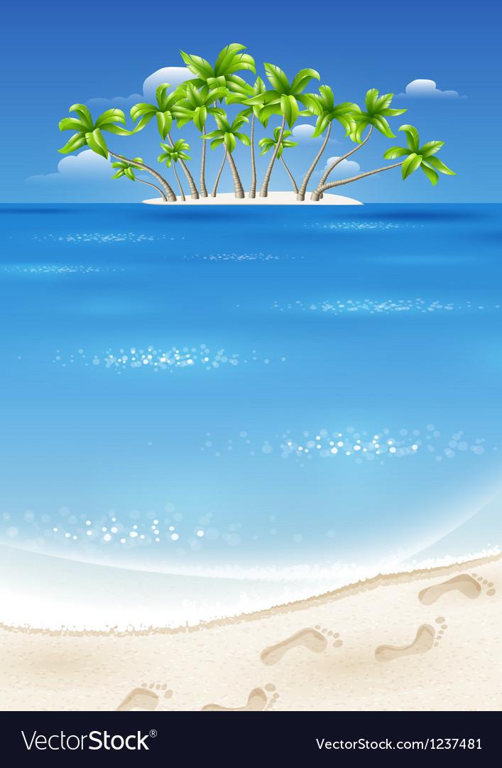 An island in the tropics vector