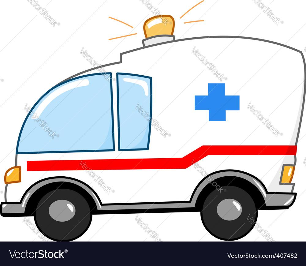 Ambulance cartoon vector