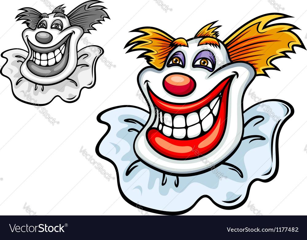 Old circus clown vector