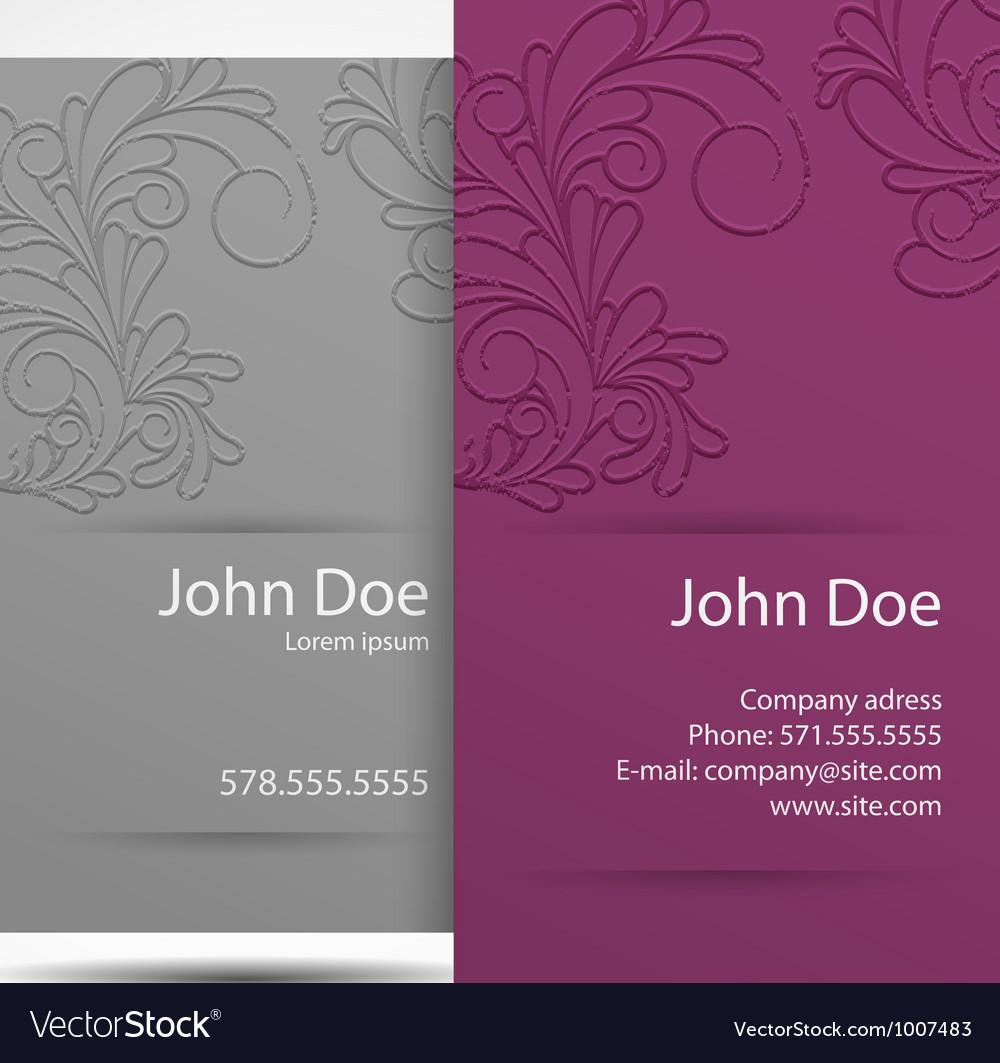 Business card monochrome vector