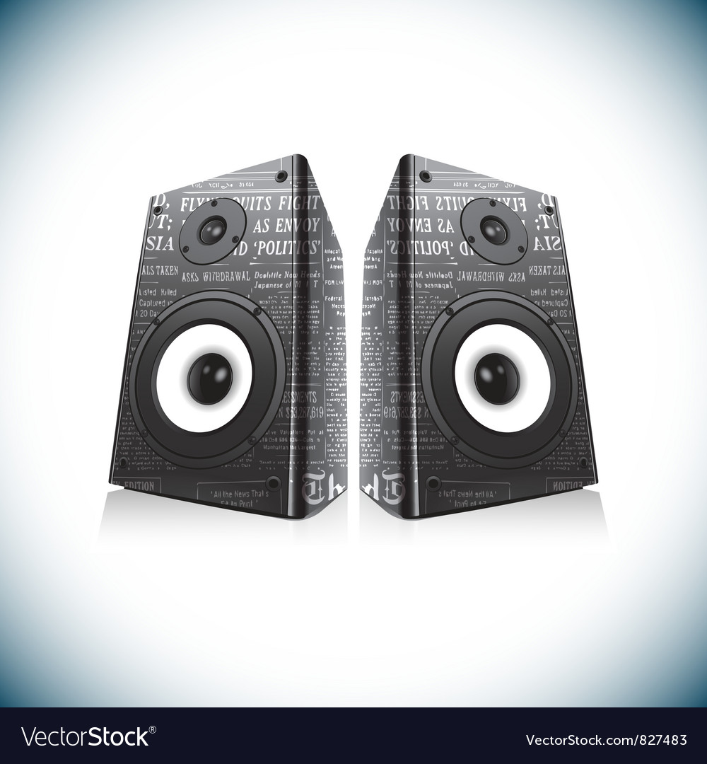 Two audio speakers vector