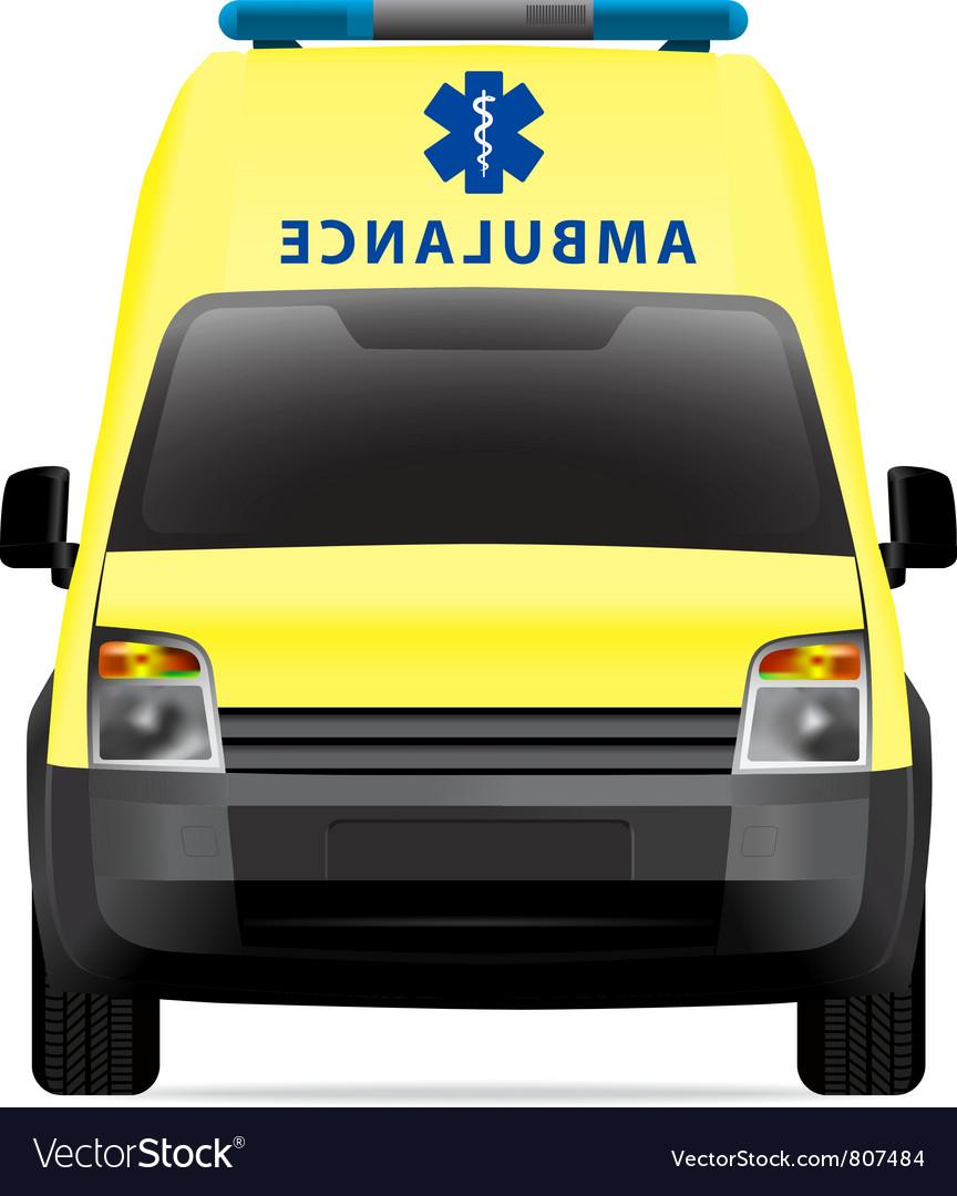 Ambulance car vector