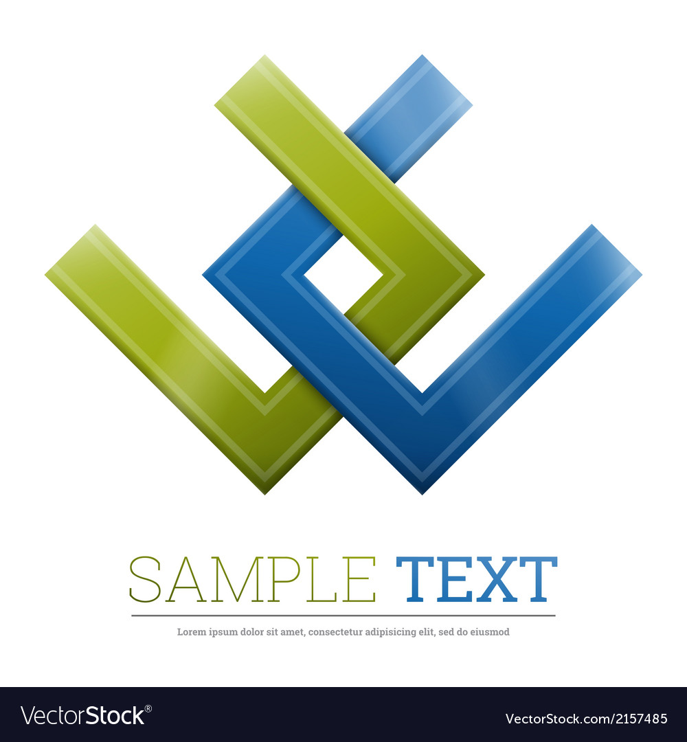 Abstract shape corporate icon vector