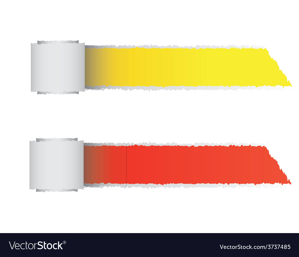 Torn paper color roll vector