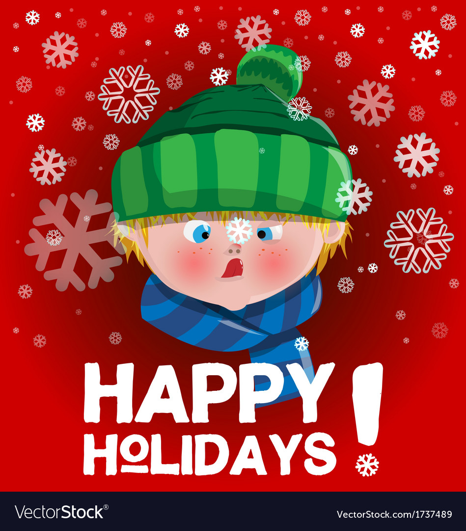 Kid holidays card vector