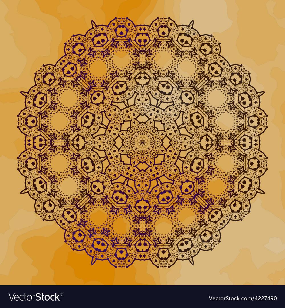 Grungy henna mandala vector
