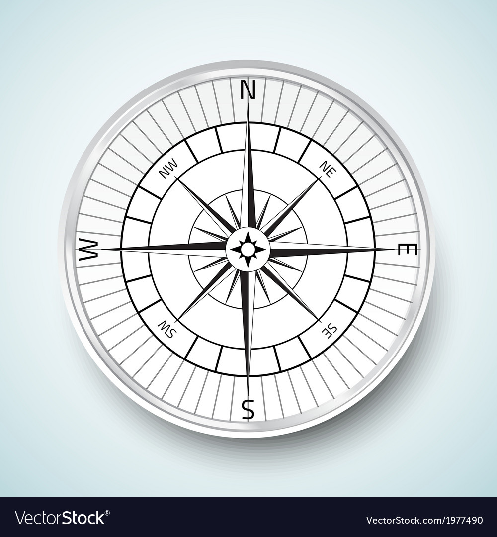 Realistic compas icon vector