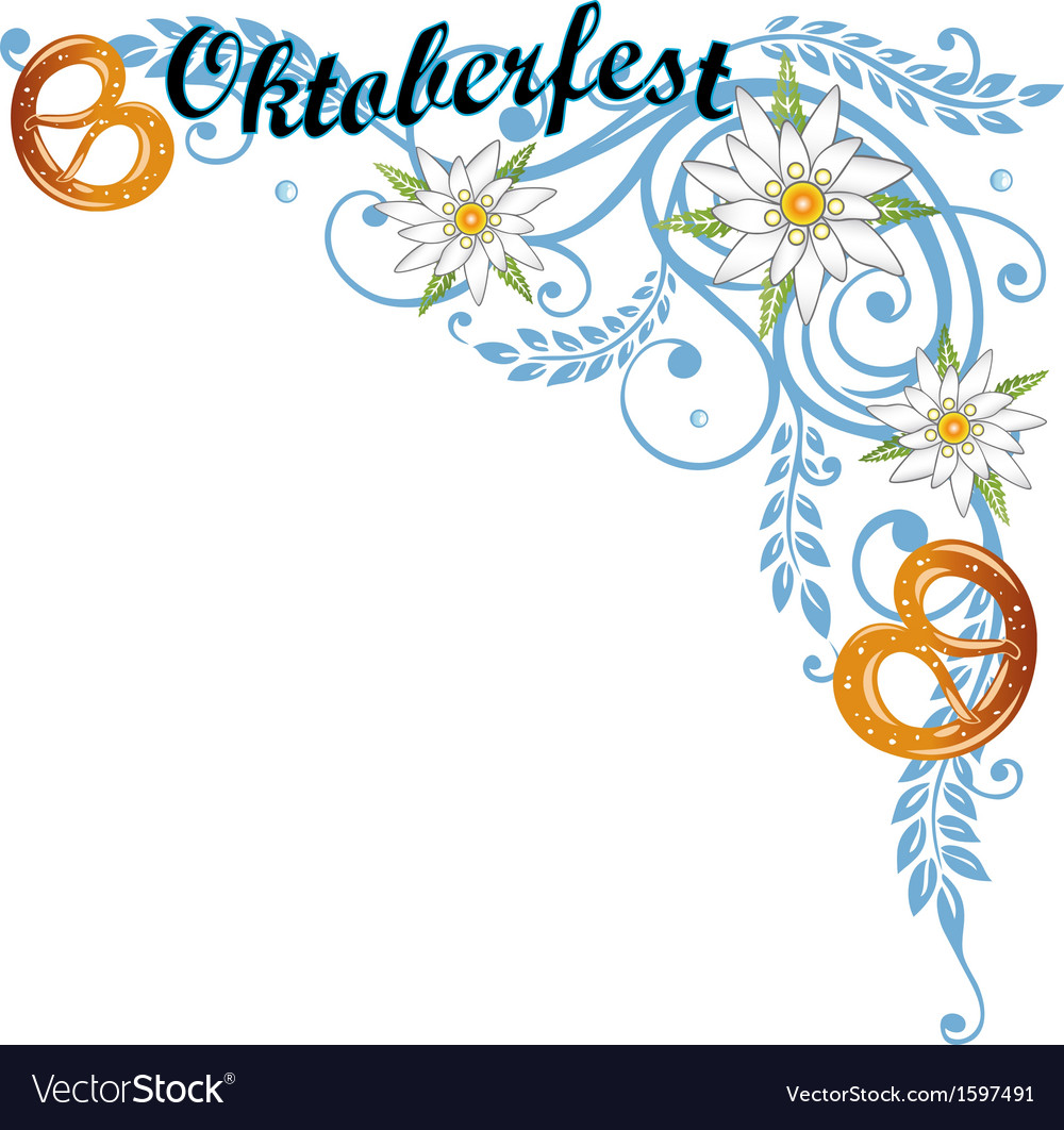 Oktoberfest tendril grain vector